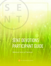 Cover of service devotion booklet